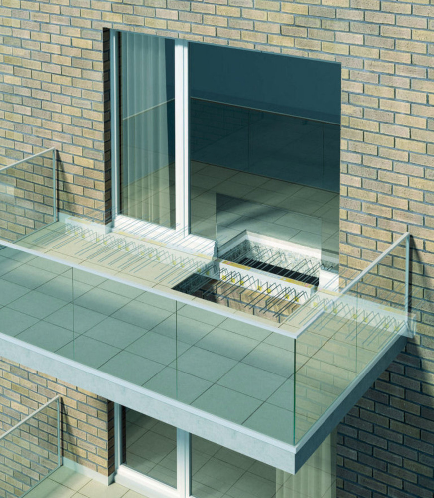 An effective thermal break combats condensation and mould for Types of balcony