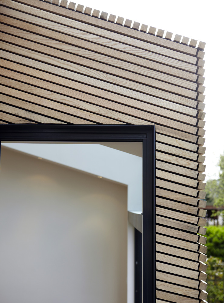 White oak doubles up as an interior and exterior solution for External wood cladding