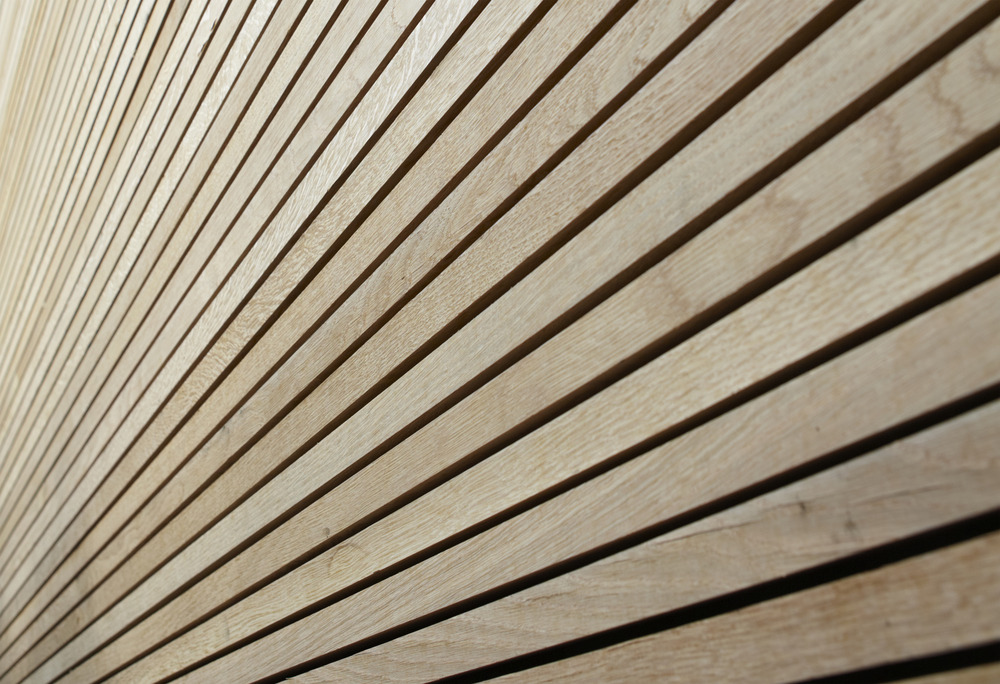 Wooden Cladding Horizontal ~ White oak doubles up as an interior and exterior solution