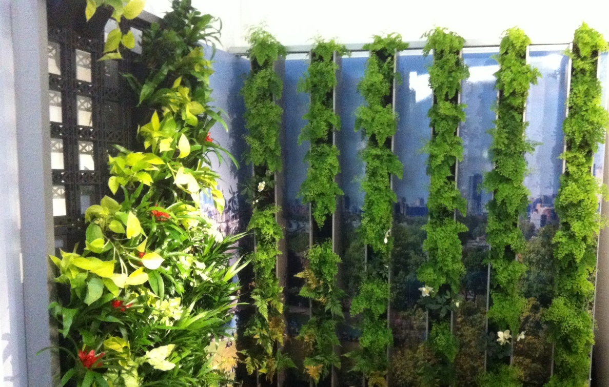 Vertical louvres living wall system takes treebox to new Green walls vertical planting systems