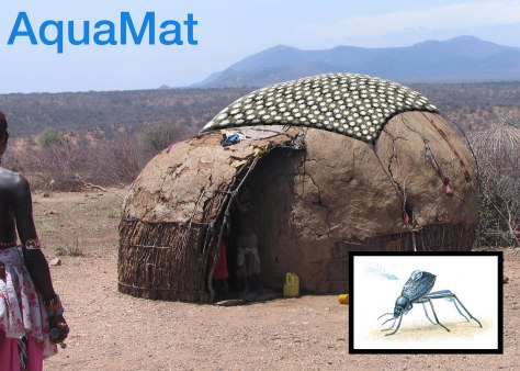 Aquamat inspired by the Namib desert beetle