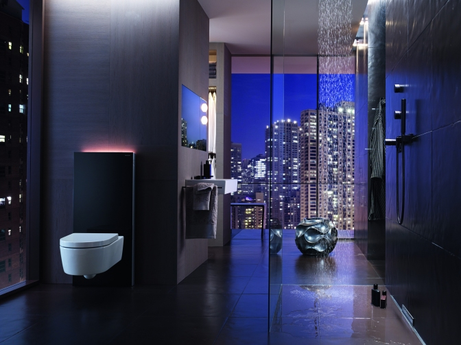 Let there be light whatever the hour, with Geberit Monolith Plus