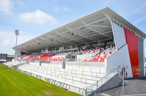 One of the new stands at Ravenhill