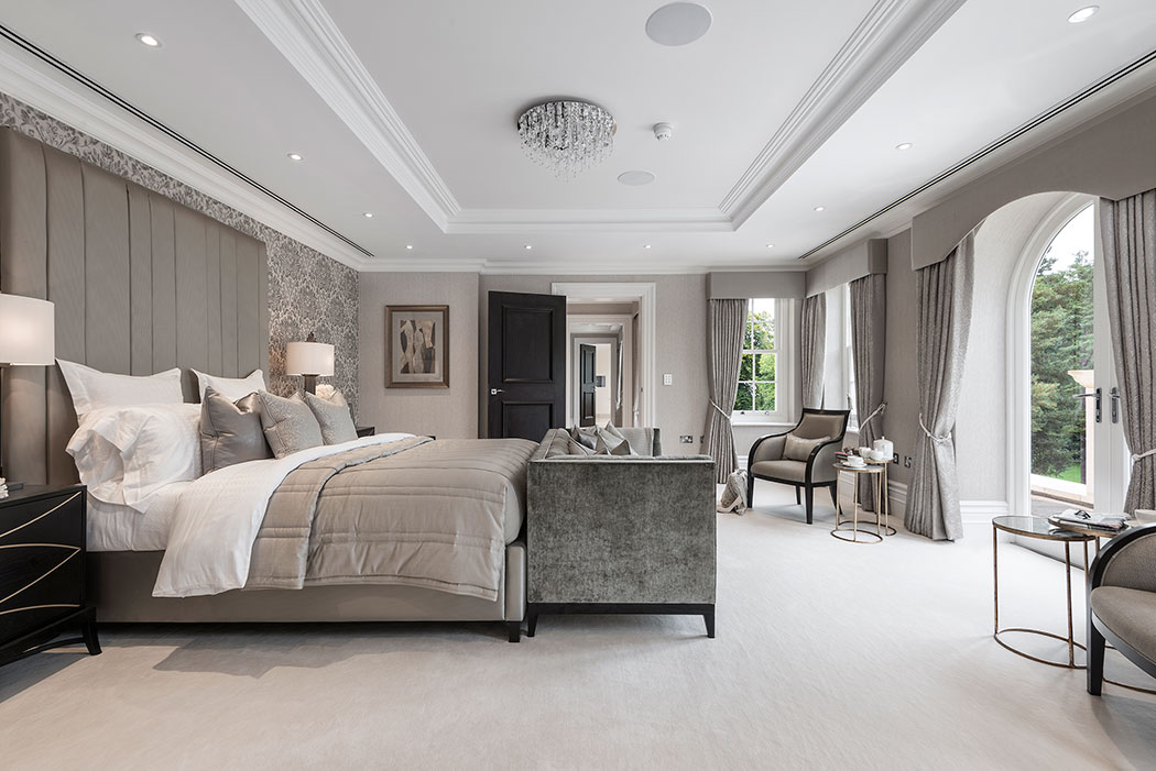 interesting master bedroom suite | Luxury panel doors fit for a mansion | Architecture ...
