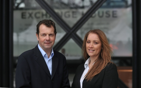 Amanda Hope, Advanced's UK business development manager with Broadgate's David Powell'