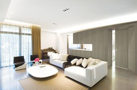Room featuring Vicaima Dark Champagne stained Ash sliding door and panels
