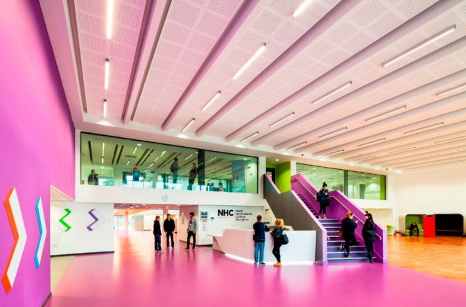 Altro resins break new ground on North Herts College new campus