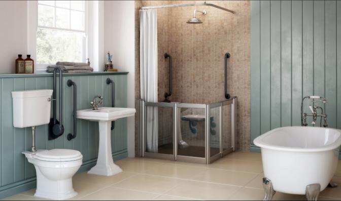 Neaco colour options provide stylish adaptive bathing