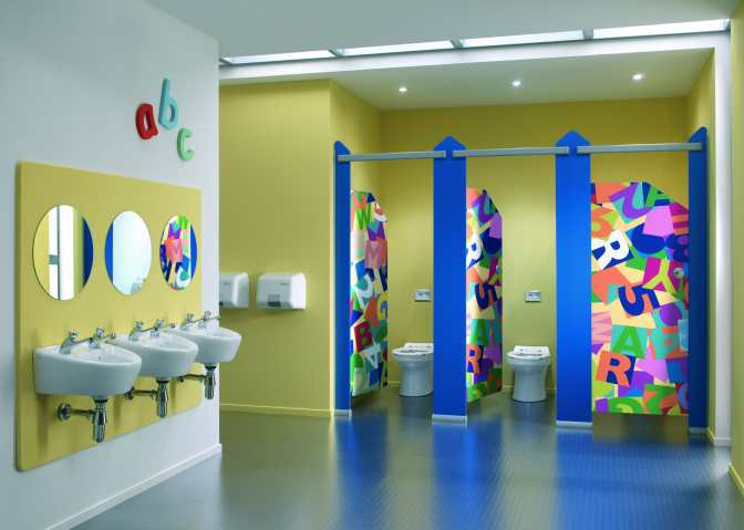 Washroom design for the well educated