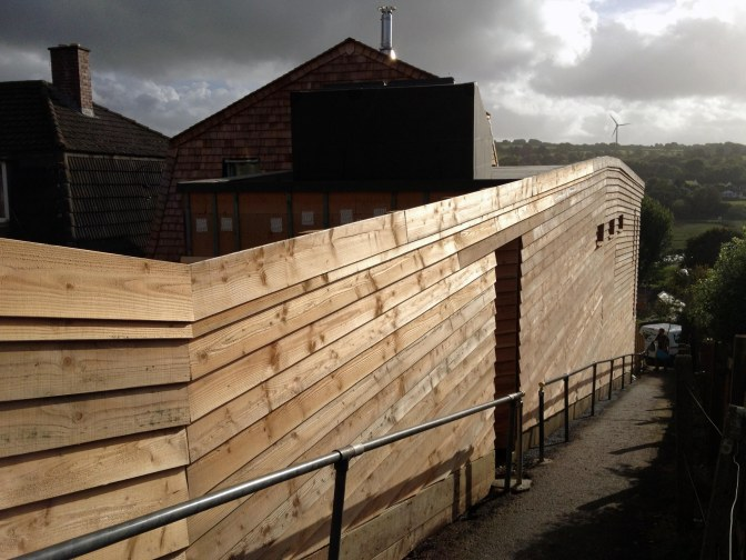 Timber Structure low consumption house in Wadebridge, Cornwall.