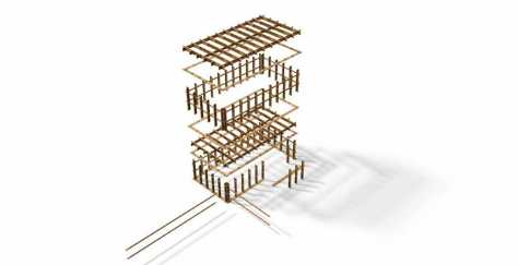 an easy, quick and self-explanatory timber construction