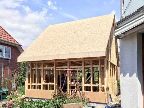 half storey home with duo pitched roof